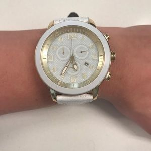 Citizen eco-drive white leather watch